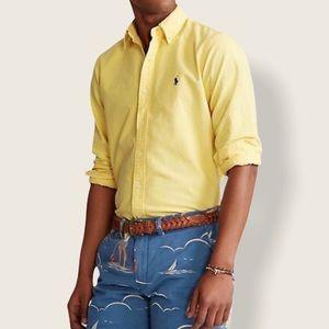 Ralph Lauren Polo Men's Button Down Shirt Yellow